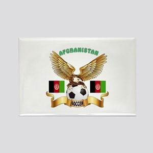 Afghanistan Football Design Rectangle Magnet