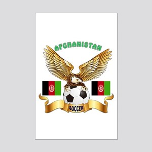 Afghanistan Football Design Mini Poster Print