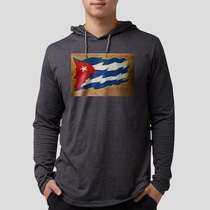 Cuban Flag Mens Hooded Shirt