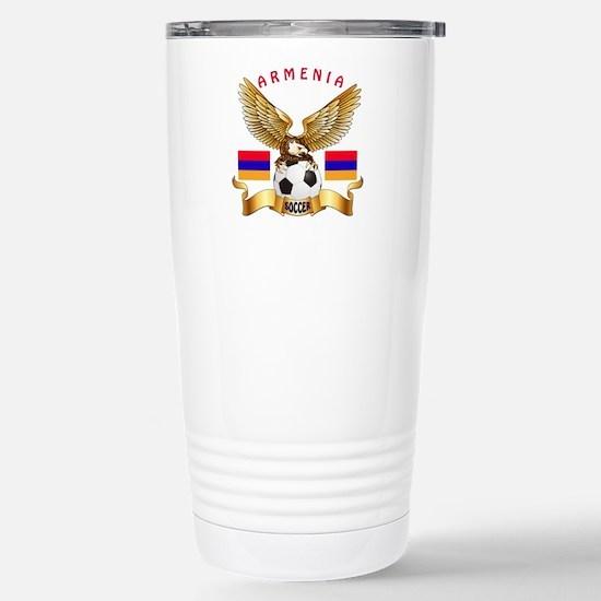 Armenia Football Design Stainless Steel Travel Mug