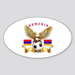 Armenia Football Design Sticker (Oval)