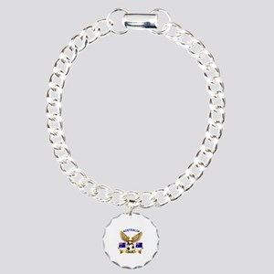 Australia Football Design Charm Bracelet, One Char
