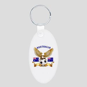Australia Football Design Aluminum Oval Keychain
