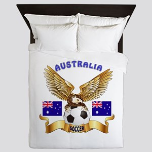 Australia Football Design Queen Duvet