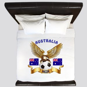 Australia Football Design King Duvet