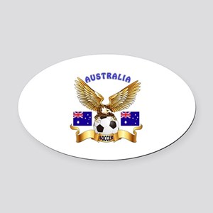 Australia Football Design Oval Car Magnet