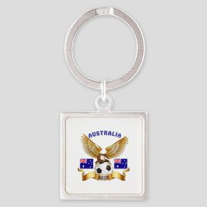 Australia Football Design Square Keychain