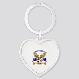 Australia Football Design Heart Keychain