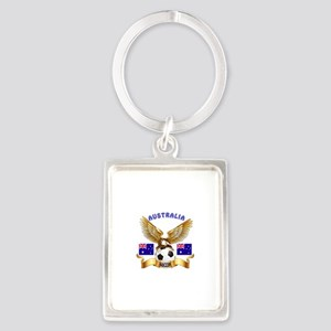 Australia Football Design Portrait Keychain