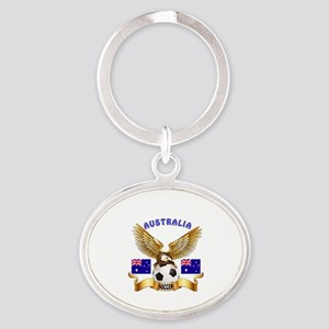 Australia Football Design Oval Keychain