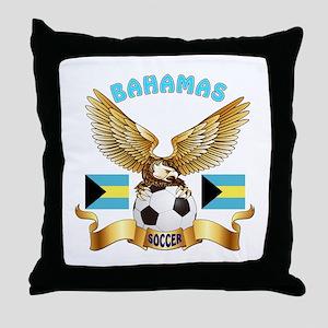 Bahamas Football Design Throw Pillow