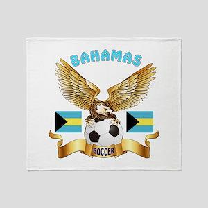 Bahamas Football Design Throw Blanket