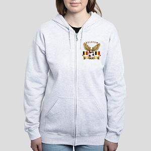 Belgium Football Design Women's Zip Hoodie
