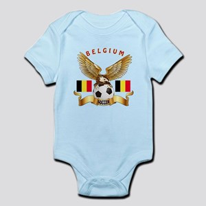 Belgium Football Design Infant Bodysuit