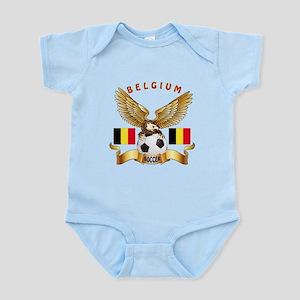 Belgium Football Design Infant Bodysuit