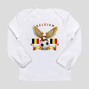 Belgium Football Design Long Sleeve Infant T-Shirt