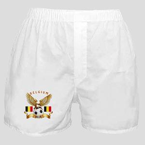 Belgium Football Design Boxer Shorts