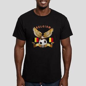 Belgium Football Design Men's Fitted T-Shirt (dark