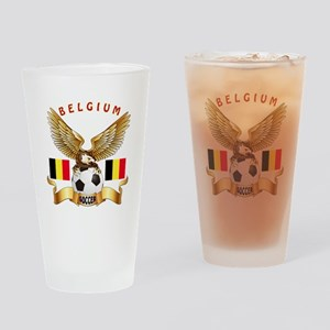 Belgium Football Design Drinking Glass