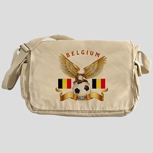 Belgium Football Design Messenger Bag