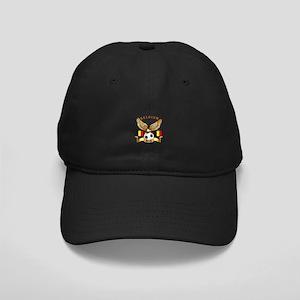 Belgium Football Design Black Cap