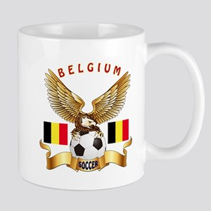 Belgium Football Design Mug