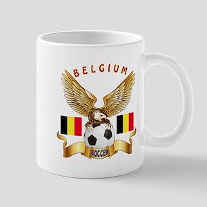 Belgium Football Design Mug
