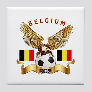 Belgium Football Design Tile Coaster