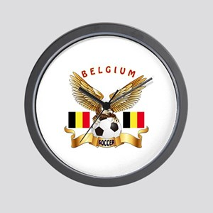 Belgium Football Design Wall Clock