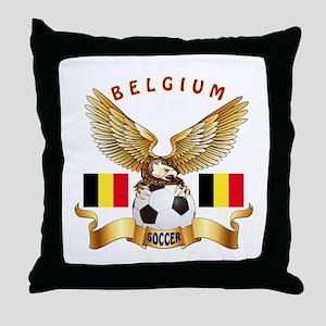 Belgium Football Design Throw Pillow