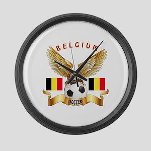 Belgium Football Design Large Wall Clock