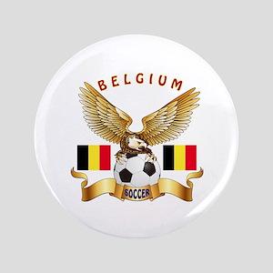 """Belgium Football Design 3.5"""" Button"""