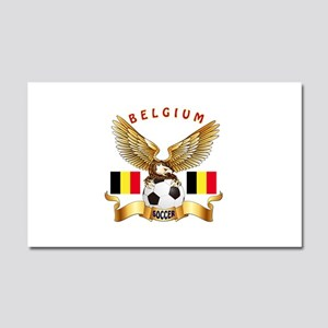 Belgium Football Design Car Magnet 20 x 12