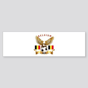 Belgium Football Design Sticker (Bumper)