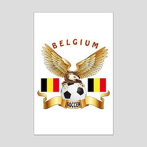 Belgium Football Design Mini Poster Print