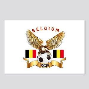 Belgium Football Design Postcards (Package of 8)