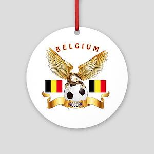 Belgium Football Design Ornament (Round)