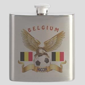 Belgium Football Design Flask