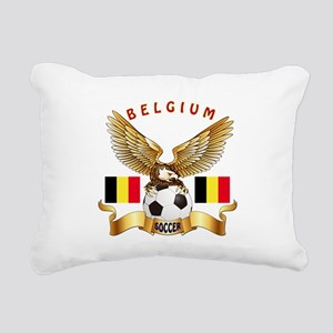Belgium Football Design Rectangular Canvas Pillow