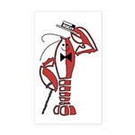 Rocky Lobster Sticker (Rectangle)