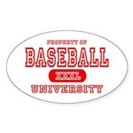 Baseball University Oval Sticker