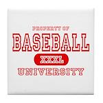 Baseball University Tile Coaster