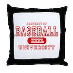 Baseball University Throw Pillow