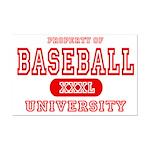 Baseball University Mini Poster Print