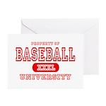 Baseball University Greeting Cards (Pk of 10)