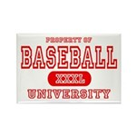 Baseball University Rectangle Magnet