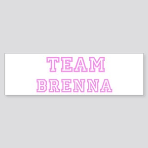 Pink team Brenna Bumper Sticker