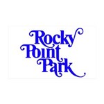Rocky Point Park Logo - BLUE 35x21 Wall Decal