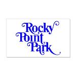 Rocky Point Park Logo - BLUE 20x12 Wall Decal