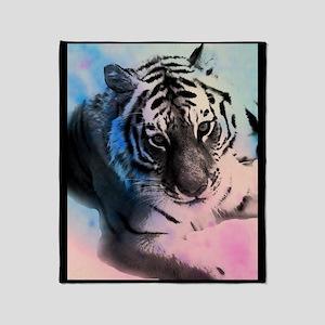Pastel Tiger Throw Blanket